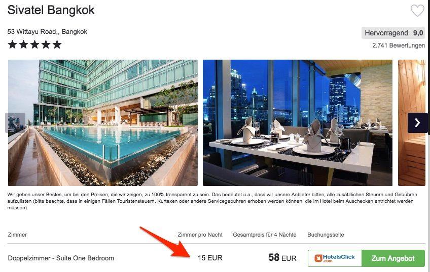 Bild: Hotel Error Fare Bangkok